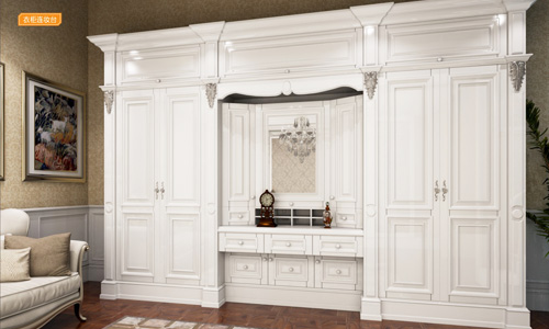 世纪新贵系列-衣柜衣帽间橱柜衣橱整体衣柜整体橱柜-衣柜连妆台DM-H-01