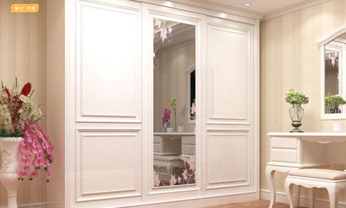 简欧风情系列-移门衣柜衣帽间橱柜衣橱整体衣柜整体橱柜-推拉门衣柜GM-G1-01H