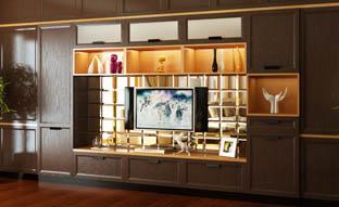 广东AG贵宾会定制家居-现代风尚-客厅柜、电视柜